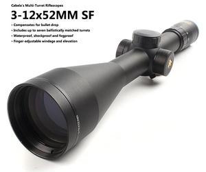 进口 坎贝拉Cabela 3-12x52 侧调焦 瞄准镜