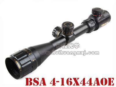 性价比之王 BSA 4-16X44AOE 带锁定瞄准镜